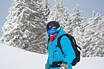 Skiier in OTG Goggles