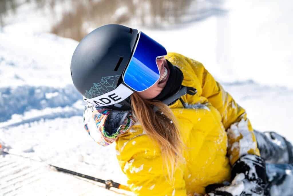 woman in best ski goggles