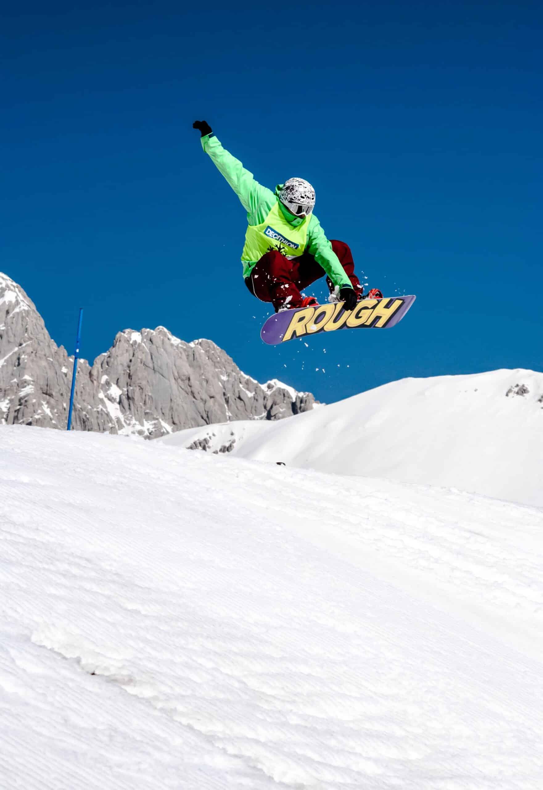 man on best snowboard