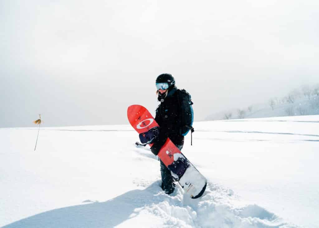 snowboarder with maintained snowboard