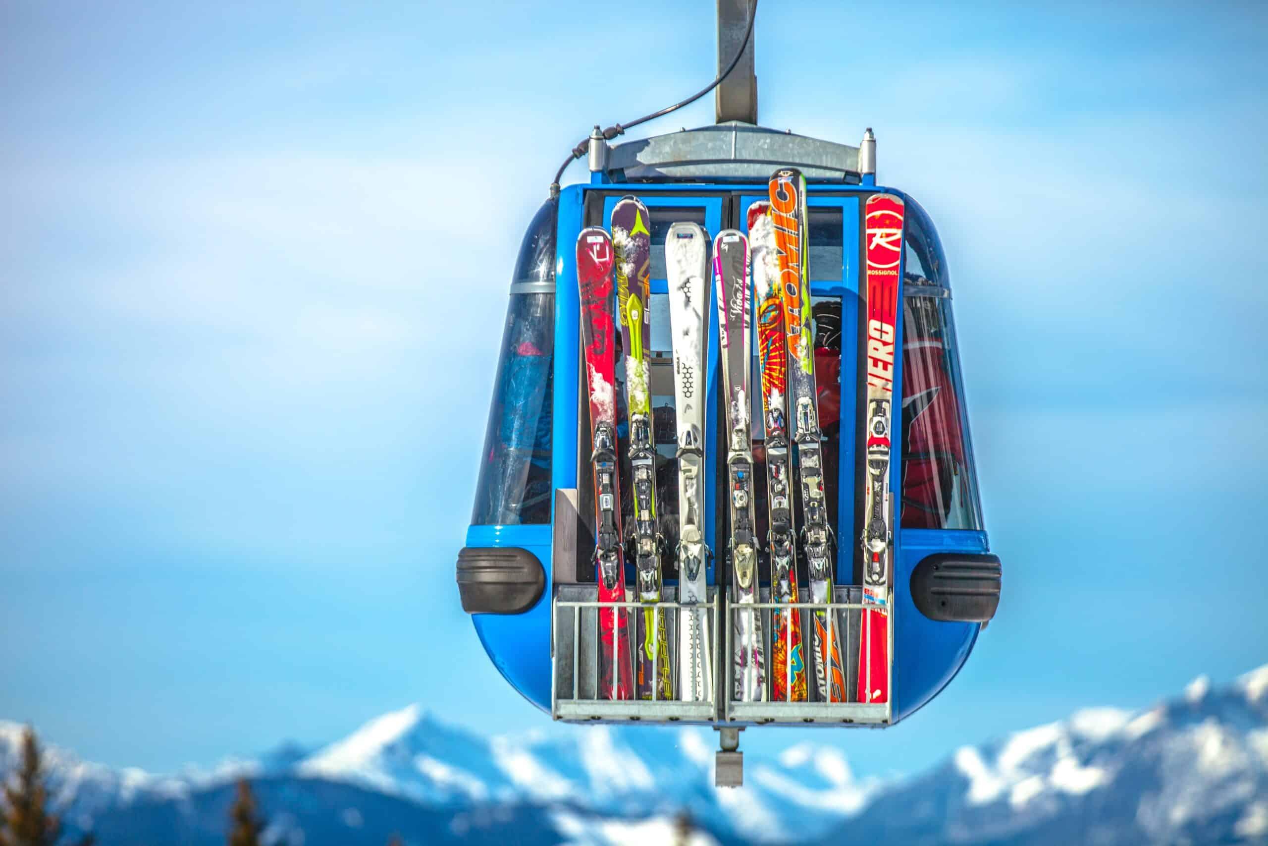 correct length skis on gondola