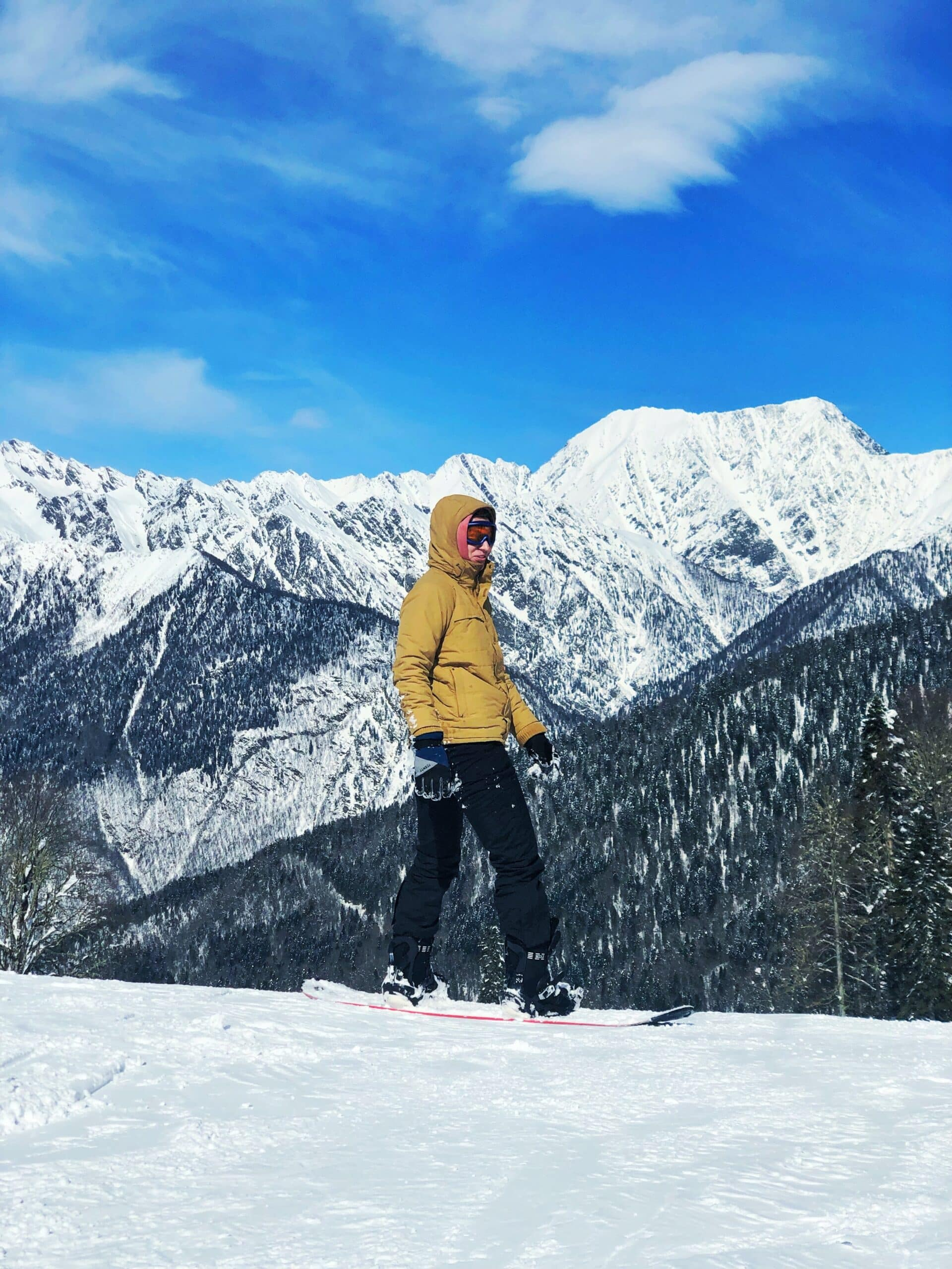 man in best snowboard boots