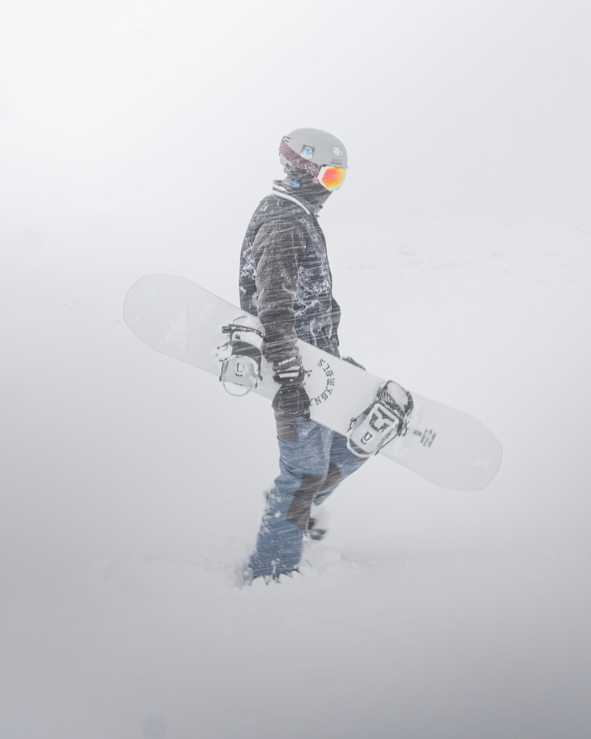 snowboarder snowboarding for the first time