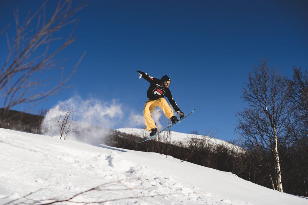trick on Chamonix Snowboard