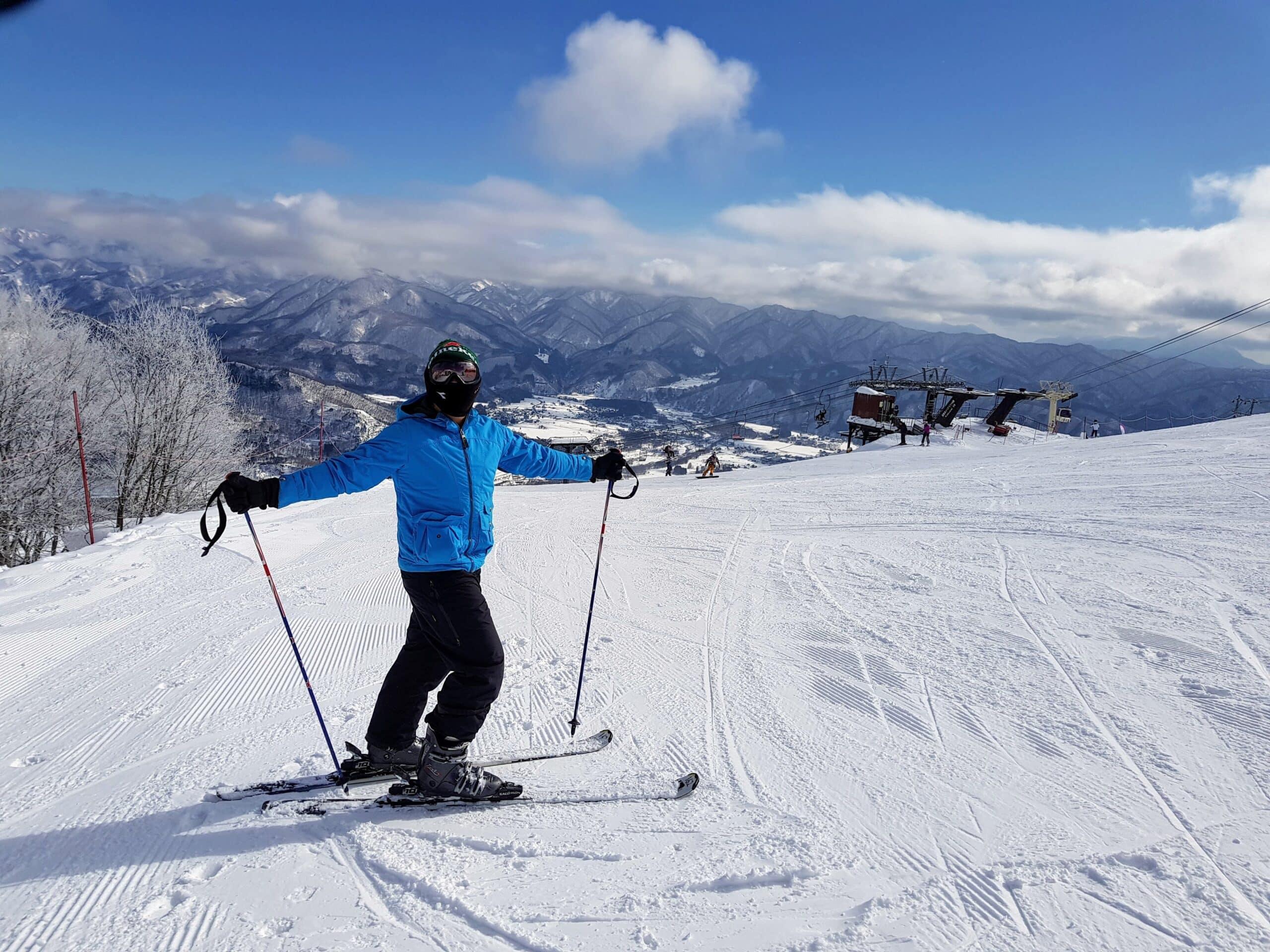 man in ski base layer